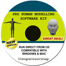 Professional 3D scansione Modellazione CD Software Kit-MAKE modelli del corpo umano