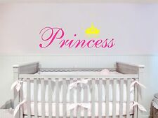 Princess Crown Removable Art Vinyl Wall Decal Sticker Decor Baby Room Nursery
