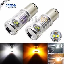 Hi-Power 1157 20W CREE Switchback White/Amber LED Front Turn Signal Light Bulbs