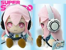 Super Sonico Anime Electric Bobble Wobble head Dancing Doll Stuffed Plush Toy #A