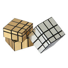 3x3x3 Magic Cube Puzzle Ruler Mirror Intelligence Game KidsToy Gold Silver