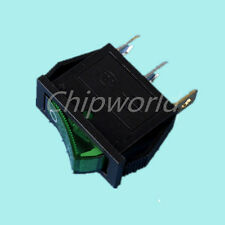 Button On-Off 3 Pin DPST Rocker Switch 250V AC 16A KCD3-101 Green