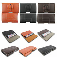 Quality Leather Belt Clip Loop Holster Pouch Case Cover Holder for Mobile Phones