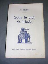 Asie Inde Fia Ohman sous le ciel de l'Inde Pays de Rabindranah Tagore 1927