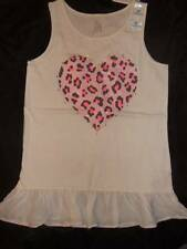NWT THE CHILDREN'S PLACE off-white knit tank top sheer ruffle rhinestones M 7 8