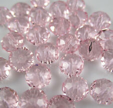 NEW Jewelry Faceted 30pcs Pink #5040 6x8mm Roundelle Crystal Beads DIY  AC21