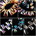 Lampwork Glass Crystal Trapezium Beads Loose Spacer Craft Jewelry Finding10x20mm