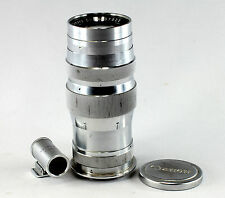 Canon Serenar 4/135 mm, in feet, Serial #37922, with viewfinder and front cover