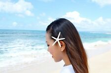 White Starfish Mermaid Hair Clip Beach Wedding Accessories Halloween Ariel