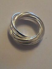 STERLING SILVER PLATED RING 925 SIZE R 9 SILVER RINGS FOR WOMEN LADIES GIRLS