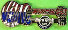 "Hard Rock Cafe MONTREAL 2008 ""Voting Rocks"" DN GUITAR PIN - HRC Catalog #64048"