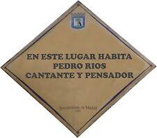 """Imán """"Tu nombre en una placa de calle de Madrid"""". Desde 4€"""