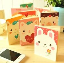 FD1029 Student Diary Note Book Kawii Animal Stationery Memo Notepad Random ~1pc