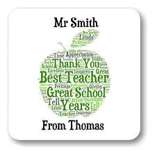 Nouveau professeur personnalisés vous remercier montage mots coaster cadeau de fin de l'année C115
