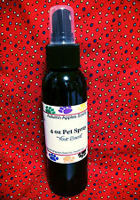 PET SPRAY - PEPPERMINT VANILLA - 4 oz. For Dogs & Cats! Long Lasting Scent!