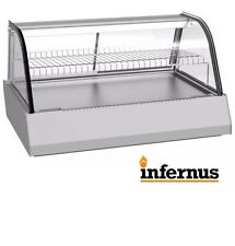 Infernus Heated Display Cabinet Food /Pie /Chicken Warmer Showcase-1070mm 156L