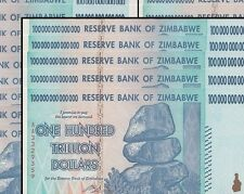 5/ 100 TRILLION ZIMBABWE DOLLAR MONEY CURRENCY.UNC*FREE SHIPPING US* USA SELLER*