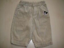 H & M Disney tolle Cordhose Gr. 68 beige mit Mickey Mouse !!