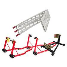 Warrior Folding Loading Ramp / Wheel Chock / Paddock Stands Bike/Motorcycle Kit