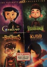 THE ULTIMATE LAIKA 4 Film COLLECTION (DVD ) Kubo,Coraline,ParaNorman & Boxtrolls