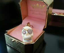 JUICY COUTURE Pirate Skull with Paved Eyepatch CHARM RARE and in EUC