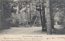 Antique POSTCARD c1905 View in Forest Park SPRINGFIELD, MA 18523
