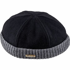 Woolen Cloth Navy Watch Cap ; Winter Docker Hat Leon Beanie Fisherman Sailor