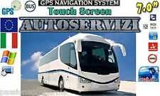 "NAVIGATORE GPS AUTOBUS PULLMAN BUS GT 7"" MAP EUROPA POI BUS 2016 CHECK POINT ITA"