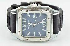 MENS SWISS LEGEND WATCH BLUE DIAL SWISS QUARTZ CLEAR PLASTIC