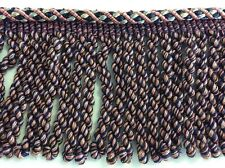 20m Piping Cord Edged 10cm Blue Heavy Fringing Curtains Upholstery New Fringe