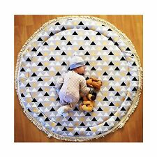 NEW BABY PADDED ROUND TUMMY TIME PLAY MAT ROUNDIES NURSERY RUG BLANKET
