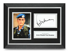 Jean-Claude Van Damme Signed A4 Photo Framed Street Fighter Autograph Display