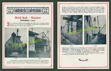 ORIG. photo-publicité brasserie Beck rothenburg tauber bière ouvriers Artisanat 1906!!!