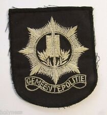 VINTAGE EMBROIDERED DUTCH / MUNICIPAL POLICE PATCH / GEMEENTE POLITIE