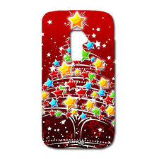 CUSTODIA COVER CASE ALBERO NATALE CHRISTMAS ROSSO RED PER LG OPTIMUS G2 D802