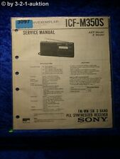 Sony Service Manual ICF M350S PLL Synthesized Receiver (#3097)