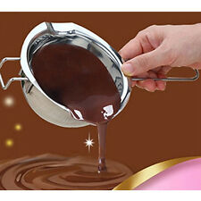 Stainless Steel Chocolate Melting Pot Furnace Heated Milk Butter Cream Bowl Tool