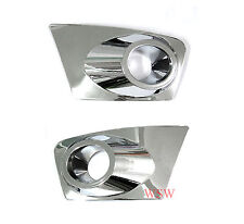 CHROME FOG LIGHT TRIM SURROUND MITSUBISHI L200 ANIMAL WARRIOR TRITON ML 09 10-11