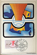 Yt 2093  FRANCE  Carte Postale Maximum SCIENCE DE LA TERRE  1980