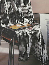 Afghan Knitting Pattern Aran Blanket/Throw Harlequin Texture 469