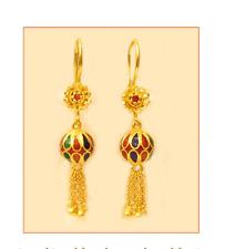 22k  gold enamel earring thai / india 23k 22kt# 44