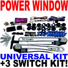 High Quality Universal Electric Power Window Kit & 3 Switch Kit Ships From USA