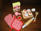 KIDS PLAY WOOD WOODEN CUPCAKE SET