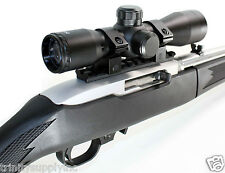 Rifle Upgrade Kit For Ruger 10/22 With 4x32 Scope + Rings + Weaver Rail Mount.