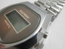 VINTAGE WATCH BULETRONIC VERY RARE EARLY MEN'S BULGARIA DIGITAL ALL STEEL