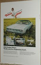 1969 Dodge advertisement, Dodge Polara, with Redhead in Miniskirt