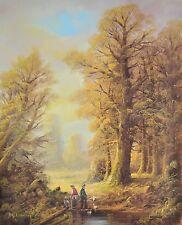 H. S. Clemens Waldspaziergang Poster Kunstdruck Bild 50x40cm