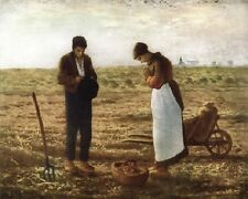 "The Angelus by Jean-Francois Millet Art Print 8""x 10"" Christian Photo 20"
