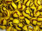 25 x 14mm BUMBLE BEE GLASS MARBLES game play solitaire party bags