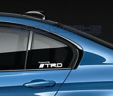 Powered By TRD Decal Sticker logo emblem IS RC FRS CELICA CAMRY Sport Pair